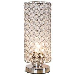 ZEEFO Crystal Table Lamp Nightstand Decorative Room Desk Lamp Night Light L...