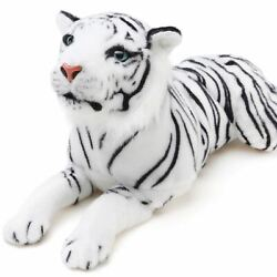 Sada the White Tiger  2 Foot Long Stuffed Animal Plush  By Tiger Tale Toys