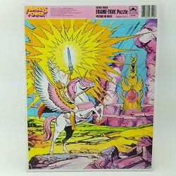 Vtg She-Ra Princess Of Power Masters Of The Universe Frame Tray Puzzle Golden