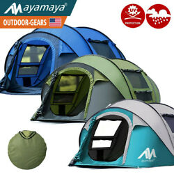 4-5 Person Pop Up Camping Tent Instant Dome Automatic Family Outdoor Sun Shelter