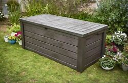 Large Outdoor Storage Box Heavy Duty Swimming Pool Deck Bench Chest Lid 150 GAL $369.98