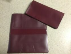 1 NEW BURGUNDY VINYL CHECKBOOK COVER WITH DUPLICATE FLAP $2.14