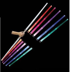 1 Galactic Wars Dual Lightsaber 2 Sided Double Light Up Kids Star Toy Sword $8.99