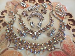 Lot of 9 Sherman EarringsBroochesNecklaces All Signed