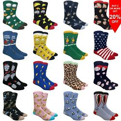 Fine Fit Men#x27;s Fun Socks Various Assorted Novelty Designs $9.95