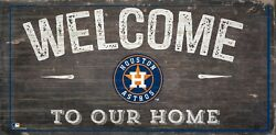 Houston Astros Welcome to our Home Wood Sign - NEW 12