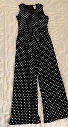 CHICOS POLKA DOT JUMPSUIT SIZE 0 US M $18.00
