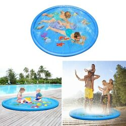 Sprinkle Splash Play Mat Pad Water Spray Inflatable Toys Outdoor Family Party US