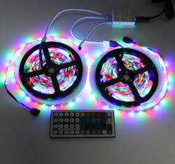 10M 3528 SMD RGB 600 LED Lighting Strips 44 Key Remote Controller for TV Room