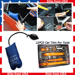 13pcs Car Panel Radio Trim Removal Open Pry Tools Kit Pump Wedge Door Entry Tool