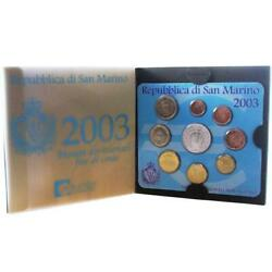 San Marino KMS 2003 st 1 Cent - 2 Euro Commemorative Coin in Folder