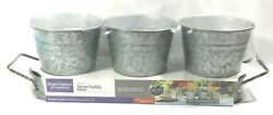 Better Homes and Garden 4 Piece Galvanized Serve Caddy Approx. Size 18