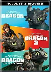 How to Train Your Dragon: 3-Movie Collection (DVD 2019 3-Disc Set) 1 2 3 NEW