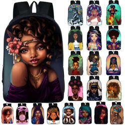 Afro African Beauty Black Princess Cool Black Girls Waterproof School Backpack