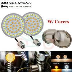 1157 LED Turn Signals Light Inserts Smoke Lens Fit for Harley Street Road Glide $25.91
