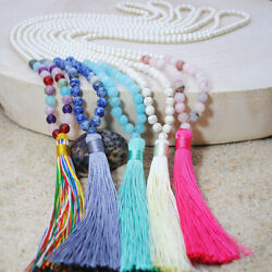 Creative Long Zircon Artificial Pearl Tassel Beaded Lady Sweater Chain Necklace