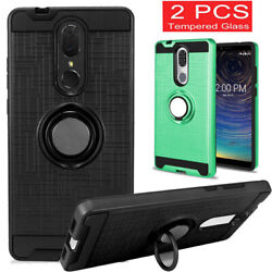 For Coolpad Legacy  Alchemy Shockproof Armor Hybrid Rubber Case+Tempered Glass