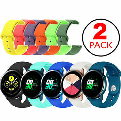 2-Pack Replacement Band Strap SmallLarge For Samsung Galaxy Watch Active