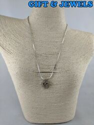 CH SIGNED STERLING SILVER NECKLACE QUARTZ HEART
