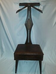 Vintage Mid Century Nova Suit Rack Dressing Gentleman's Chair Butler