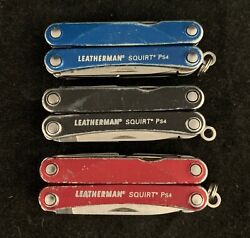🌟Leatherman Squirt PS4 Keychain Size EDC Multi-Tool Knife Pliers Pick Color