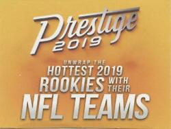 2019 Panini Prestige Retail Football Card Pick (Including Rookie Cards) RC 1-300