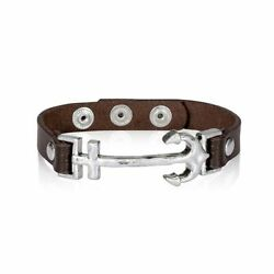Thirty One leather icon bracelet -Anchor-Brand New