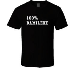 New The Quotable 100 Percent Bamileke Proud Heritage Men's T-Shirt size S-2XL
