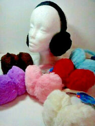 CHILDREN'S PLUSH WARM EARMUFFSSOLID COLORS GREAT ITEM  NEW FREE SHIPPING