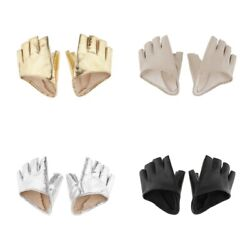 Women PU Leather Half Finger Gloves Fingerless for Driving Pole Dancing Show $8.11