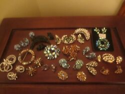 Lot of 24 Sherman EarringsBrooches  All Signed
