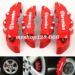 4X Brake Caliper Covers Front and Rear Set 3D Style For Car Truck Red Fashion