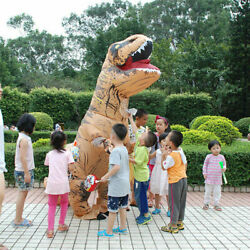 Inflatable Dinosaur T-REX Adult Costume Jurassic Funny Cosplay Blowup Suit Party