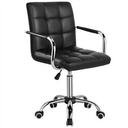 Desk Chairs 360° Swivel Modern PU Leather Adjustable Executive Office Chair $69.99