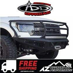 ADD HoneyBadger Front Rancher Winch Bumper Black For 2010-2014 Ford F150 Raptor