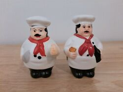 Gourmet Master Italian Chefs Salt and Pepper Shakers C $10.00