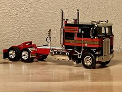 DCP 164 Kenworth Black Red K100 Flattop Cab Over Long Frame Semi Tractor