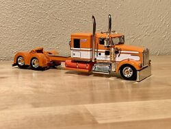 DCP 164 KENWORTH W900 FLATTOP ORANGE LONG FRAME TRACTOR ONLY NEW SEMI TRUCK