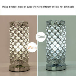 Decorative Crystal Table Lamp Nightstand Room Desk Lamp For Bedroom Elegant US