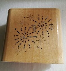 Starburst Fireworks Fourth of July Independence Day Stars Sky Rubber Stamp $4.50