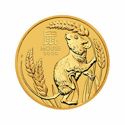 2020-P $15 110oz Australian Gold Year of the Mouse Lunar Series III