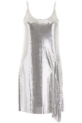 NEW Paco rabanne metallic mini dress 19EIRO057MH0060 Silver AUTHENTIC NWT