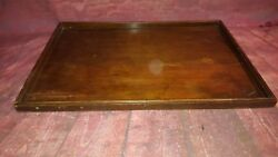 Antique Vintage Wooden Serving Servants Butler Tray Tea Coffee Snacks Party