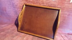Antique Vintage Wooden Serving Butler Servant Tray Tea Coffee Snacks Party