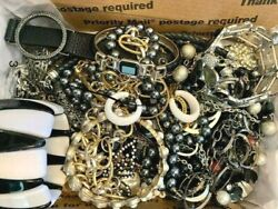 39 Pieces of Vintage to Now Signed & Unsigned GORGEOUS BlackWhite Jewelry Lot
