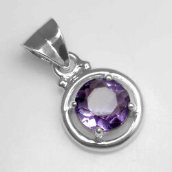 925 Sterling silver 2.70 Gram Natural Amethyst Top Quality Round Design Pendant