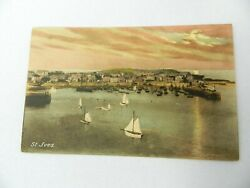 Vintage Postcard Sail Boats Beach St Ives Cambridgeshire England Lighthouse