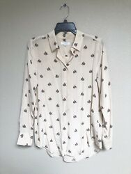 EQUIPMENT 100%Silk Blouse Shirt Elephant Small Great Condition