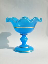 Antique glass vase candy box 19th century. Russia $250.00