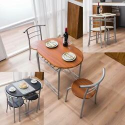 3 PCS Bistro Dining Set Table and 2 Chairs Kitchen Furniture Home 5 Colors New $105.99
